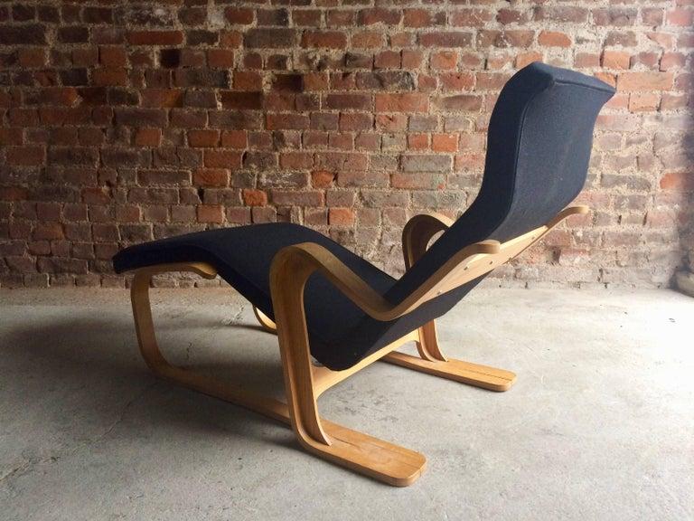 Marcel breuer long chair chaise longue black midcentury for Breuer chaise longue