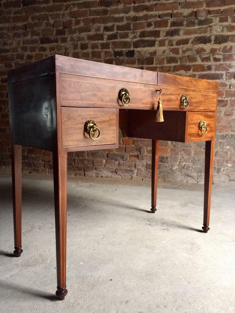 A Sublime Antique 19th Century Regency Gany Enclosed Washstand Circa 1835 The Twin Folding