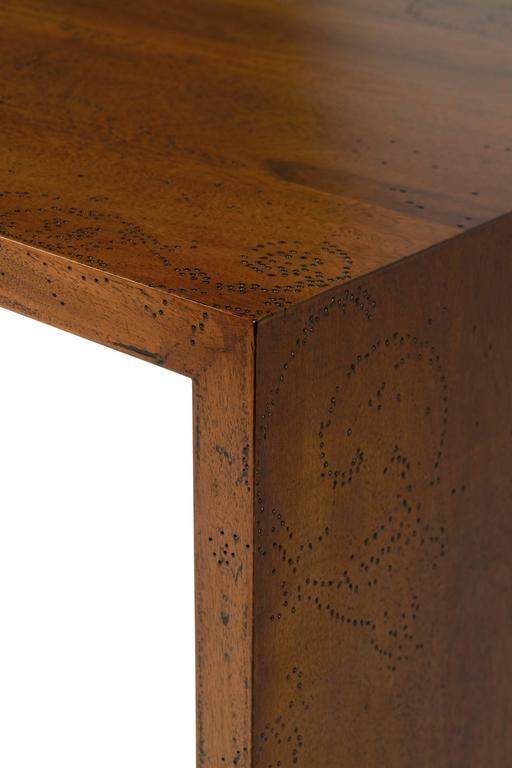 Etched Walnut Coffee Table by Sam Baron For Sale