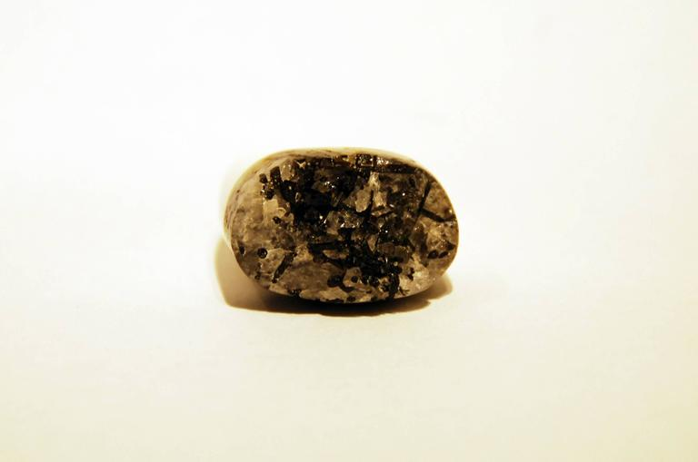 Contemporary Grey Granite Ring by Pulowi For Sale
