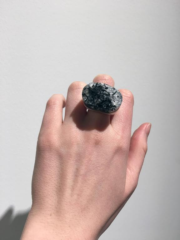 Grey Granite Ring by Pulowi For Sale 1