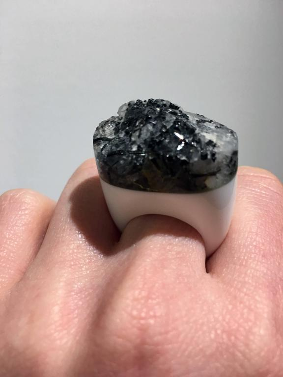 Grey Granite Ring by Pulowi In Excellent Condition For Sale In New York, NY