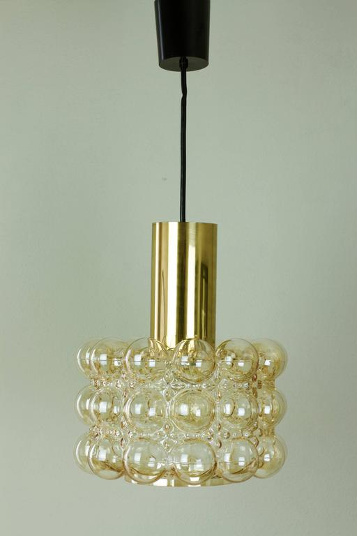 glass pendant lighting fixtures. large amber bubble glass pendant light by helena tynell for glashtte limburg 2 lighting fixtures