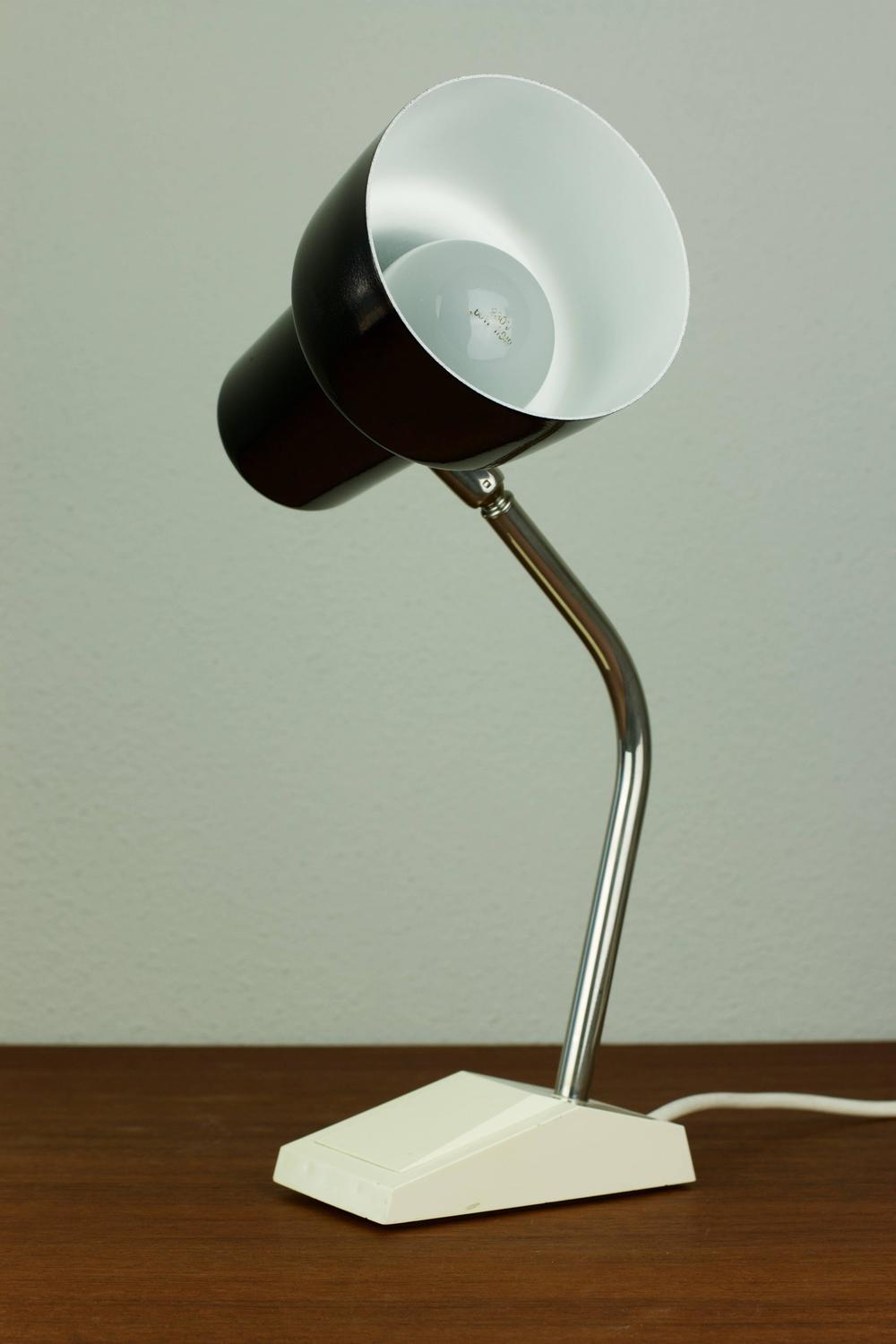 Vintage Mid Century German Swan Neck Desk Lamp By Hoffmeister Leuchten For Sale At 1stdibs