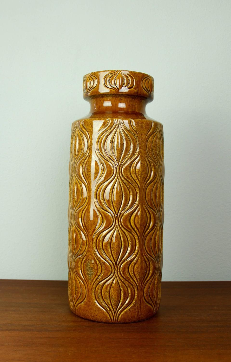 Large West German Floor Vase Amsterdam Deco By Scheurich Pottery Circa 1960 S For Sale At 1stdibs