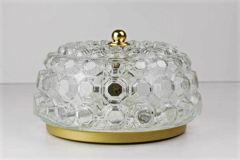 German Pair of Hollywood Regency Style Flush Mount Lights by Helena Tynell for Limburg For Sale