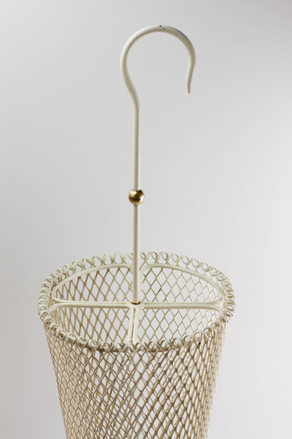 Steel Wire For Umbrella : S mathieu mategot french white perforated metal