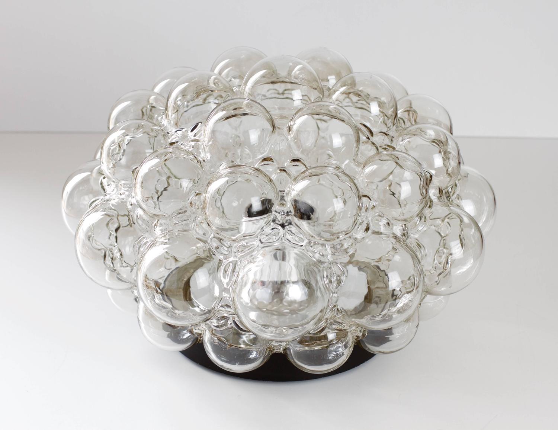 Large Helena Tynell Smoked Bubble Glass Flush Mount Light