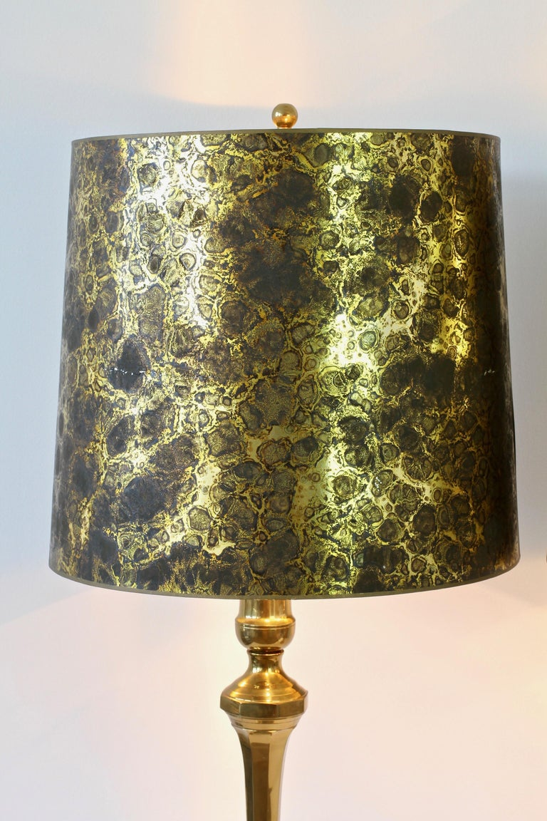 Pair of Oversized Midcentury Brass Floor / Table Lamps In Good Condition For Sale In Landau an der Isar, Bayern