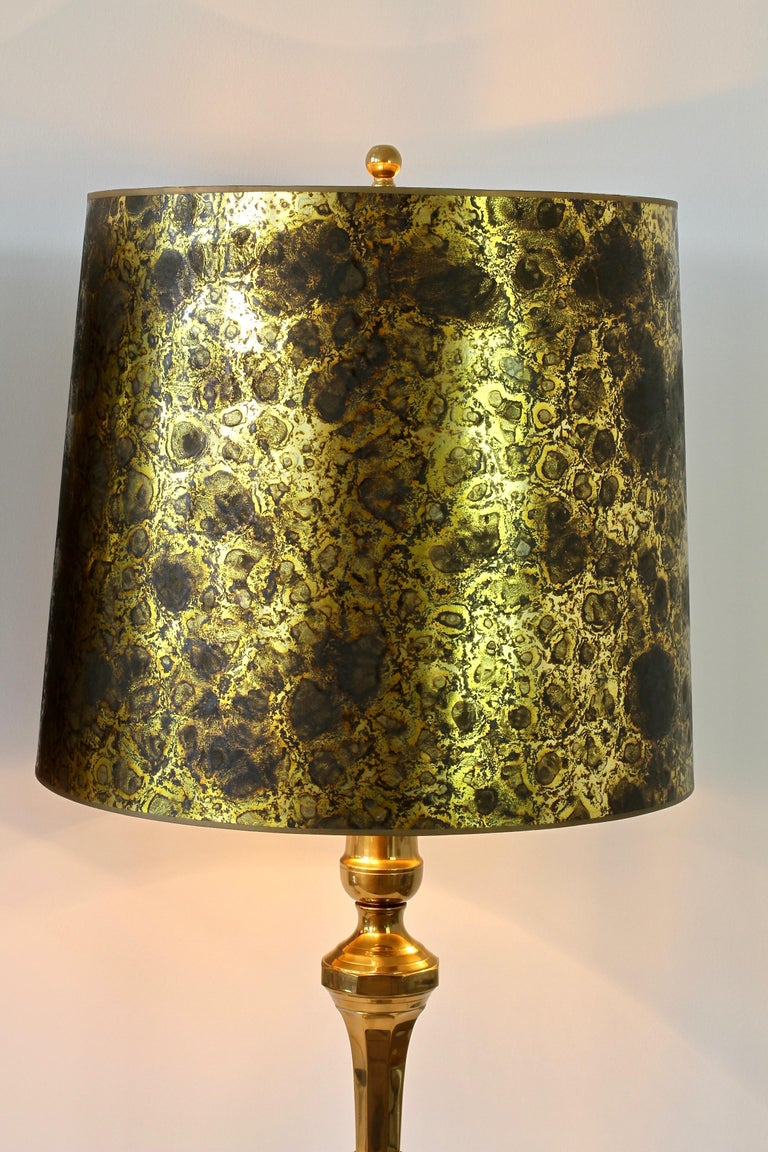 Pair of Oversized Midcentury Brass Floor / Table Lamps For Sale 3