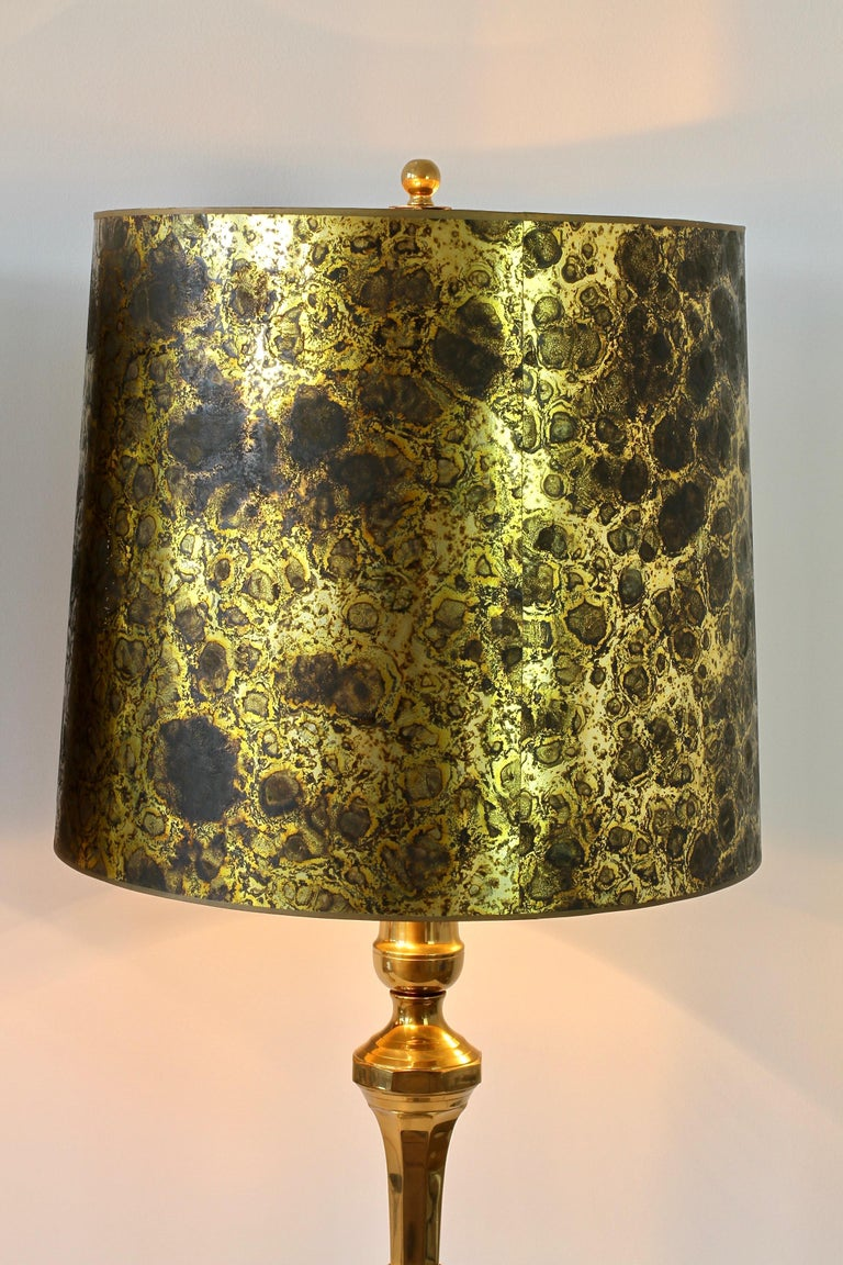 Pair of Oversized Midcentury Brass Floor / Table Lamps For Sale 4