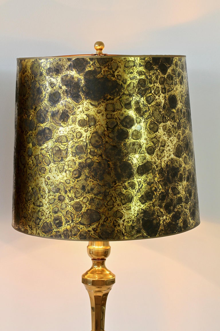 Pair of Oversized Midcentury Brass Floor / Table Lamps For Sale 5