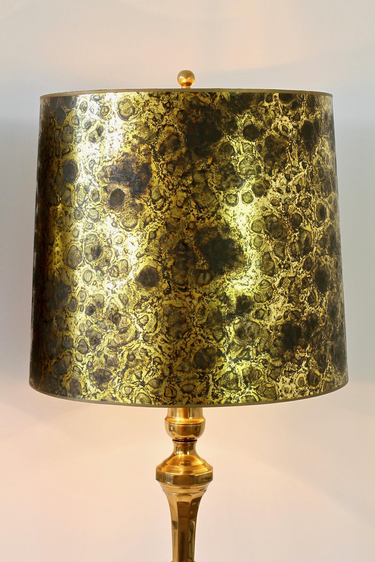 Pair of Oversized Midcentury Brass Floor / Table Lamps For Sale 6