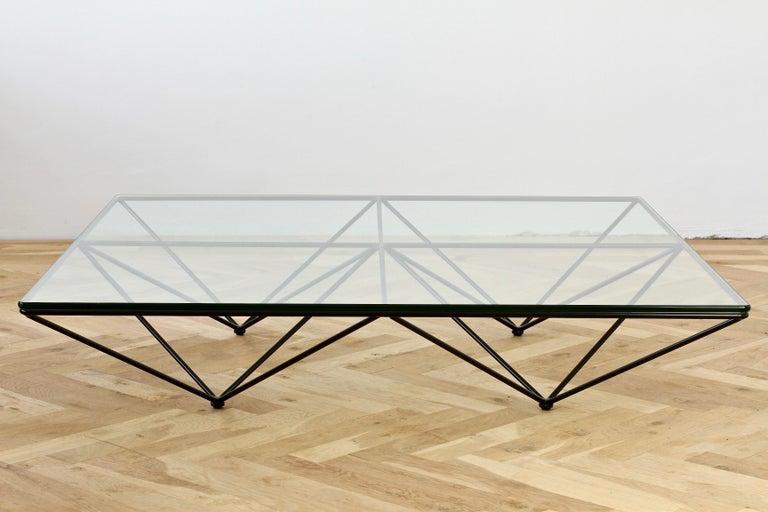 low glass coffee table lounge midcentury modern paolo piva alanda low glass coffee table for bb italia italia 1982 for