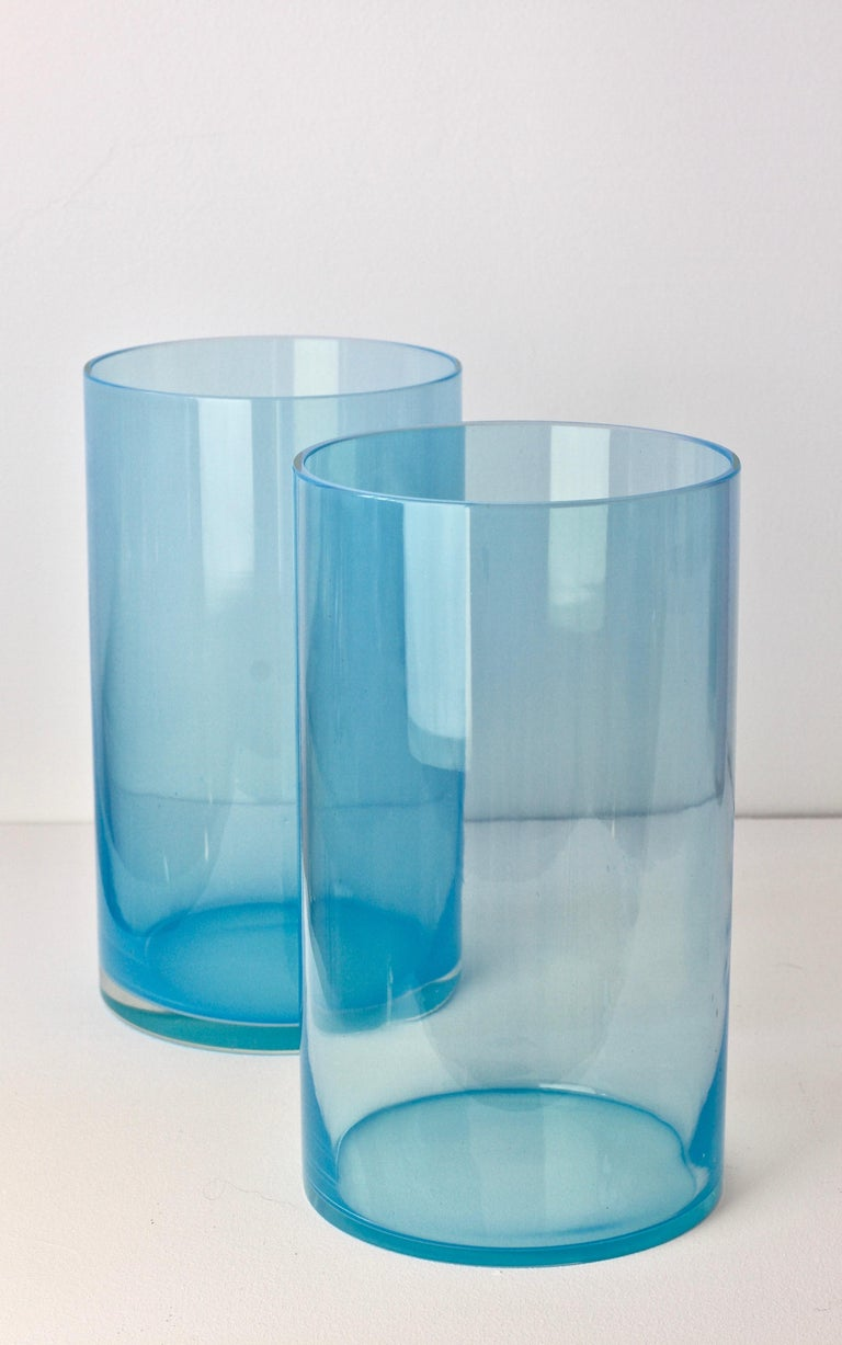 20th Century Antonio da Ros for Cenedese Murano Glass Set of Vibrantly Colored Glass Vases For Sale