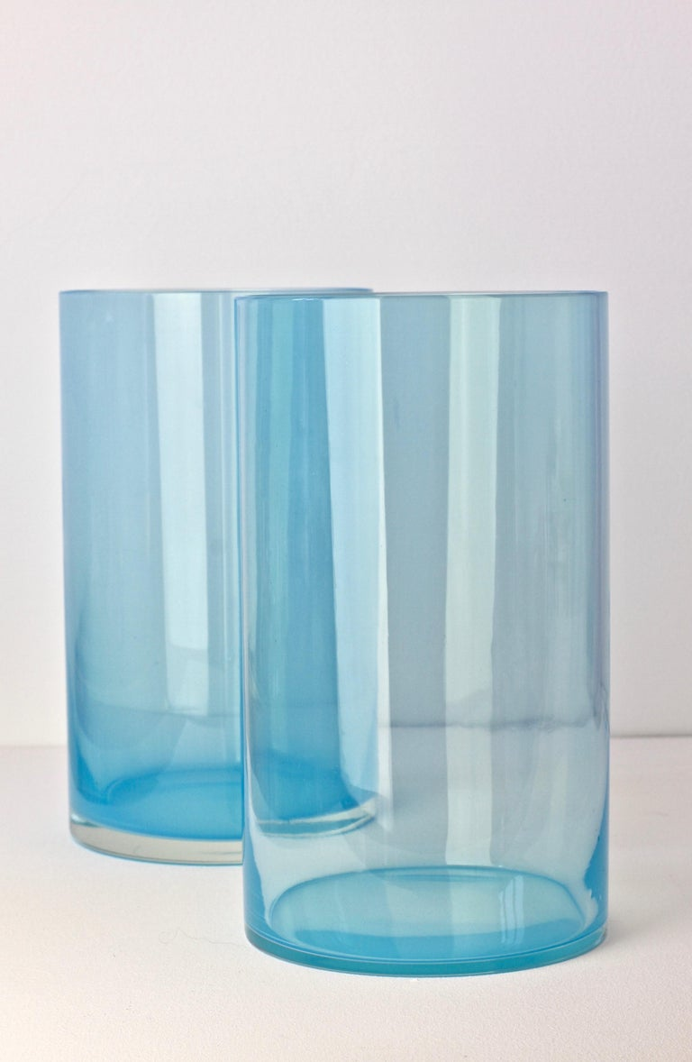Antonio da Ros for Cenedese Murano Glass Set of Vibrantly Colored Glass Vases For Sale 1