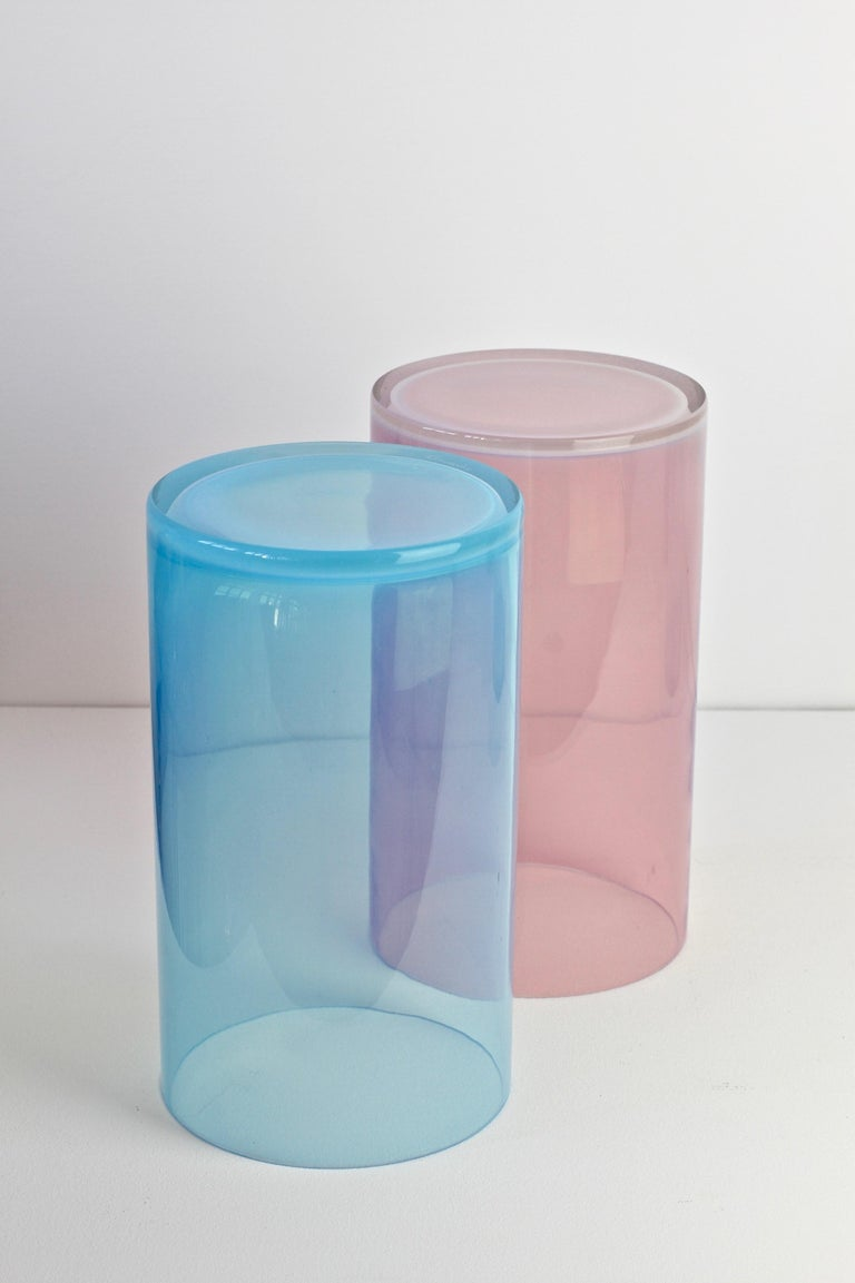 Antonio da Ros for Cenedese Murano Glass Set of Vibrantly Colored Glass Vases For Sale 5