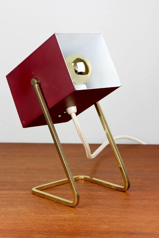 Ihram Kids For Sale Dubai: 1950s German Minimalist Modernist Cube Table Lamp/Desk