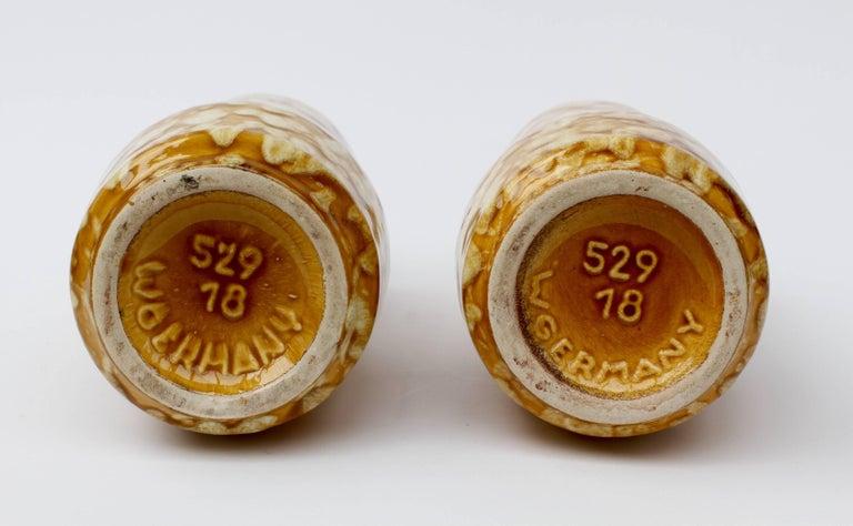 Pair of West German Mid-Century Yellow Lava Glaze Vases by Scheurich, circa 1965 In Good Condition For Sale In Landau an der Isar, Bayern