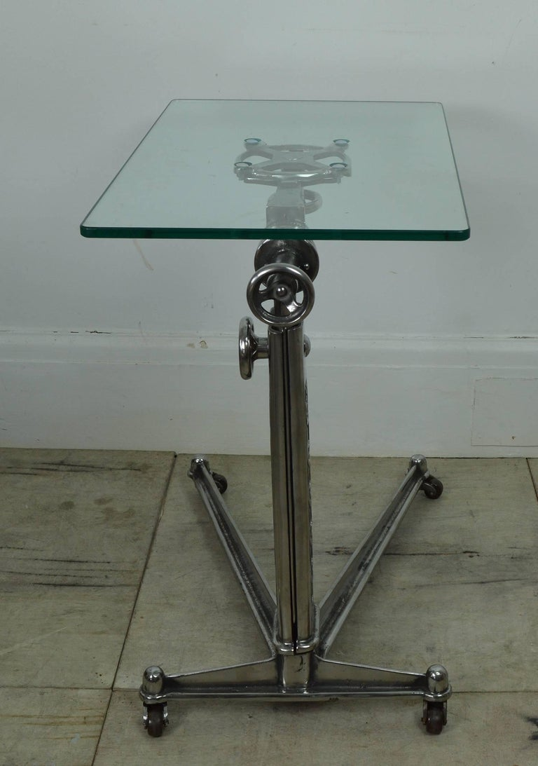Vintage Industrial Adjustable High to Low Work Table, English, 1920s In Good Condition In St Annes, Lancashire