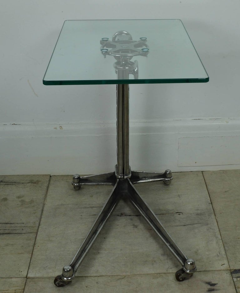 20th Century Vintage Industrial Adjustable High to Low Work Table, English, 1920s