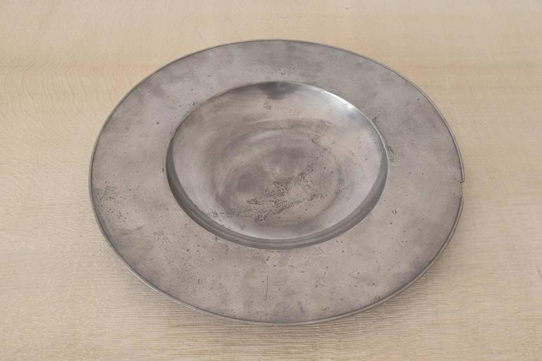 Wonderful shape of pewter dish.