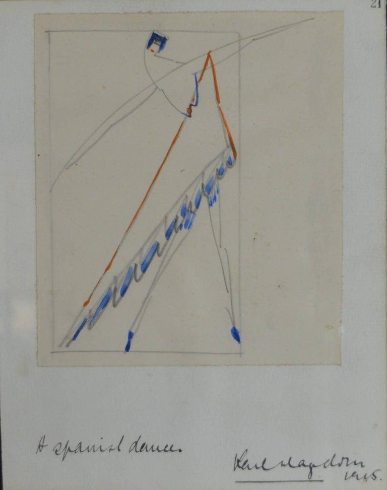 Futurist Spanish Dancer, Karl Hagedorn, 1915
