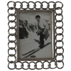 Antique Nickel-Plated Brass Ring Photograph Frame