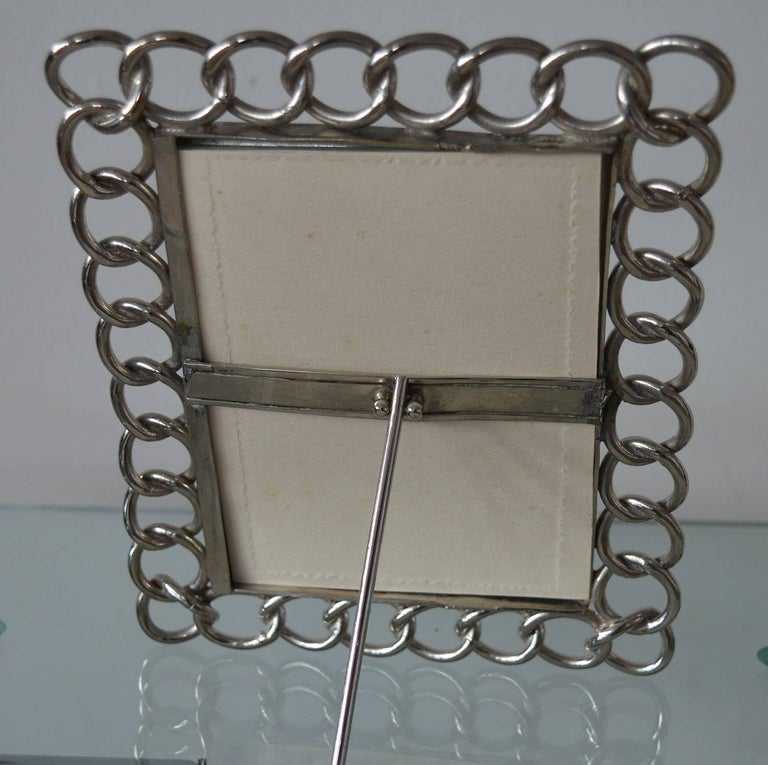 Edwardian Antique Nickel-Plated Brass Ring Photograph Frame For Sale