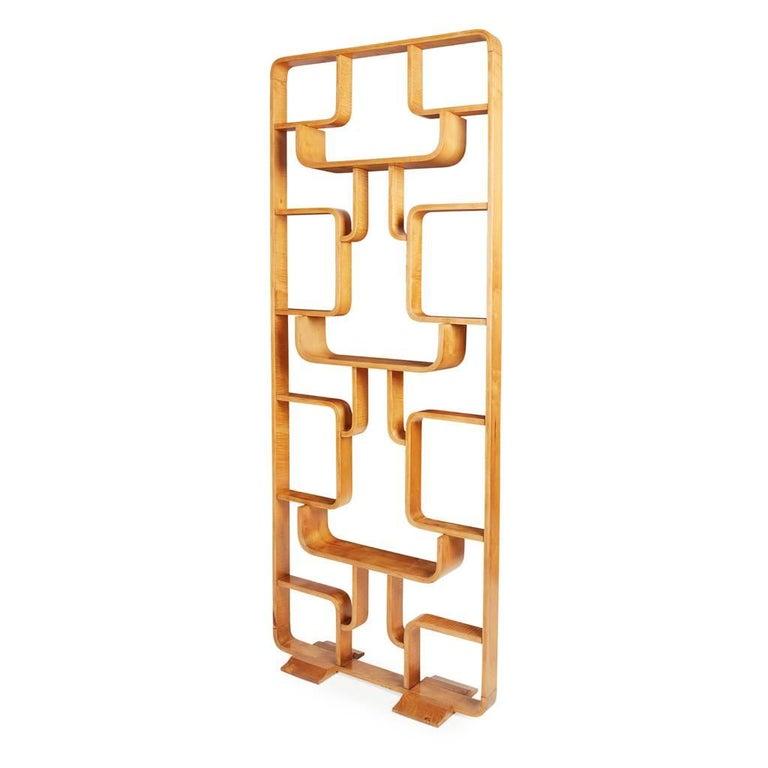 Thonet, Ludvik Volak, Midcentury Bentwood Room Divider Wall Unit