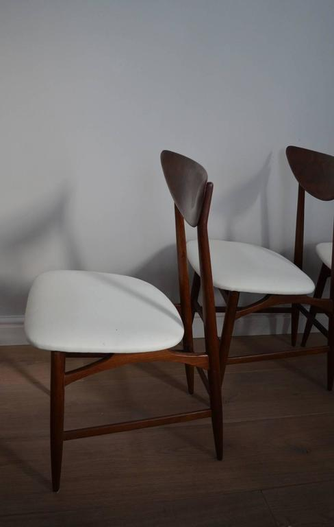 Set Of Six Fine Italian Midcentury Rosewood Dining Chairs