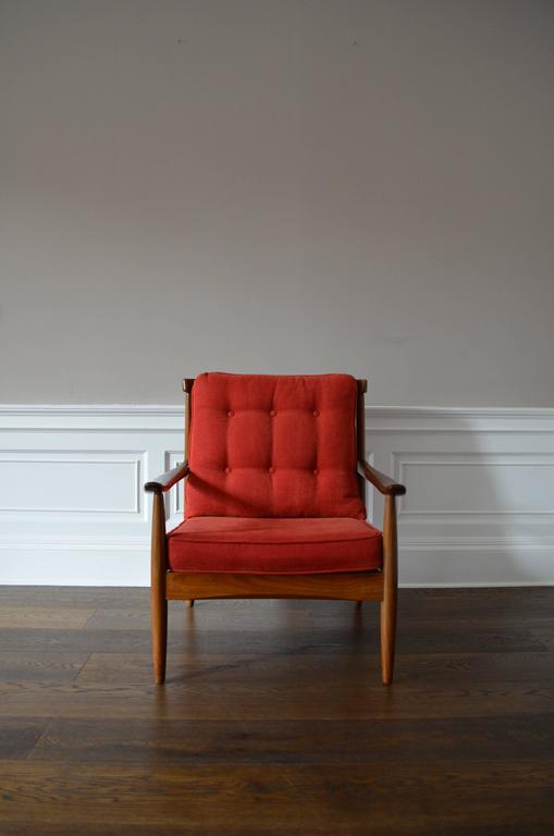 Pair Of Greaves And Thomas His And Hers Armchairs In Red