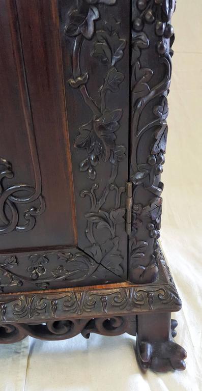 Carved 19th Century, Qing Dynasty Curio Cabinet For Sale