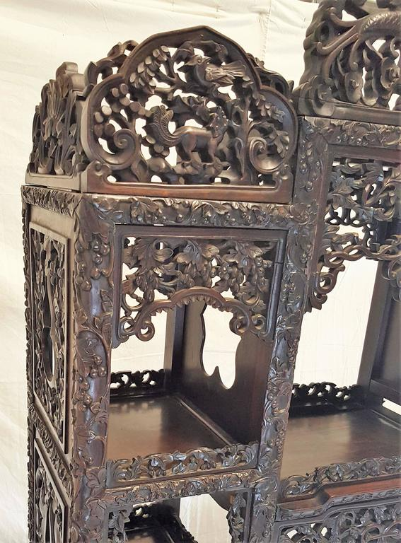 19th Century, Qing Dynasty Curio Cabinet In Good Condition For Sale In Houston, TX