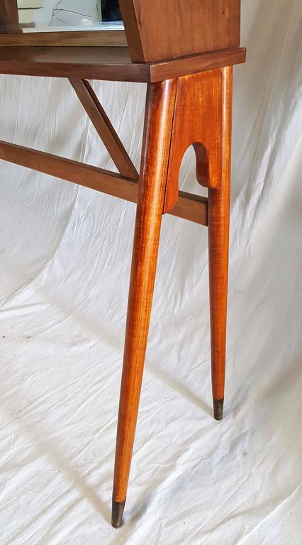 Mid-Century Modern Mid-Century Walnut Case Piece or Headboard, style of Ico Parisi For Sale