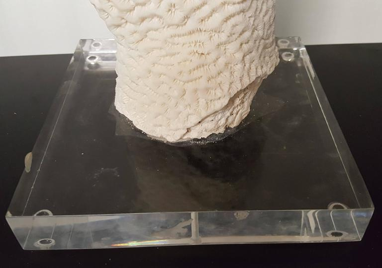 Post Modern Organic Pillar Coral In Good Condition For Sale In Houston, TX