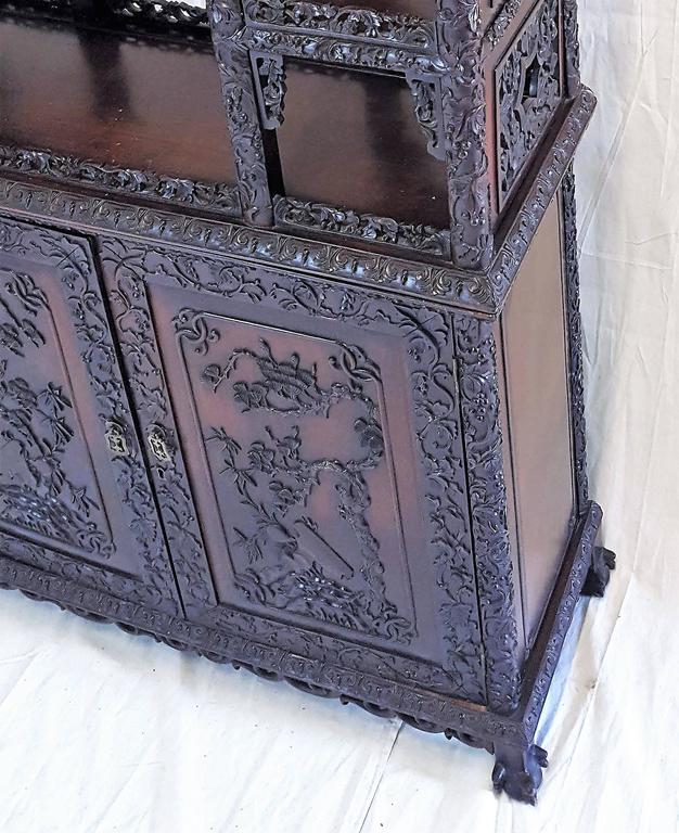 19th Century, Qing Dynasty Curio Cabinet For Sale 1