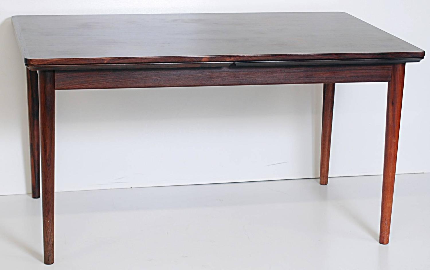 danish modern draw leaf dining table with 2 27 inch leaves this table