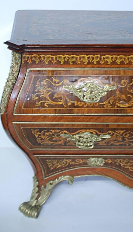 Louis XV Style Marquetry Inlaid Bombay Commode For Sale at ...