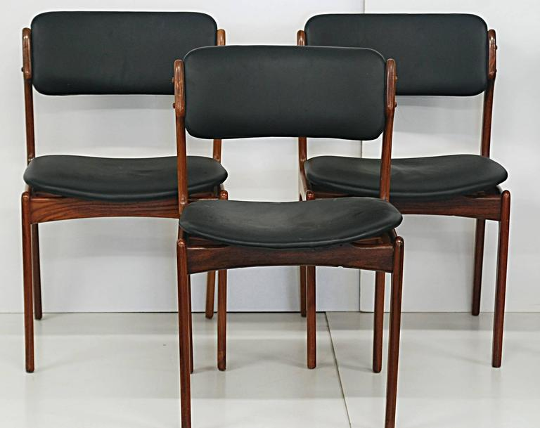 set of six danish modern rosewood dining chairs by kobenhavns toldsted