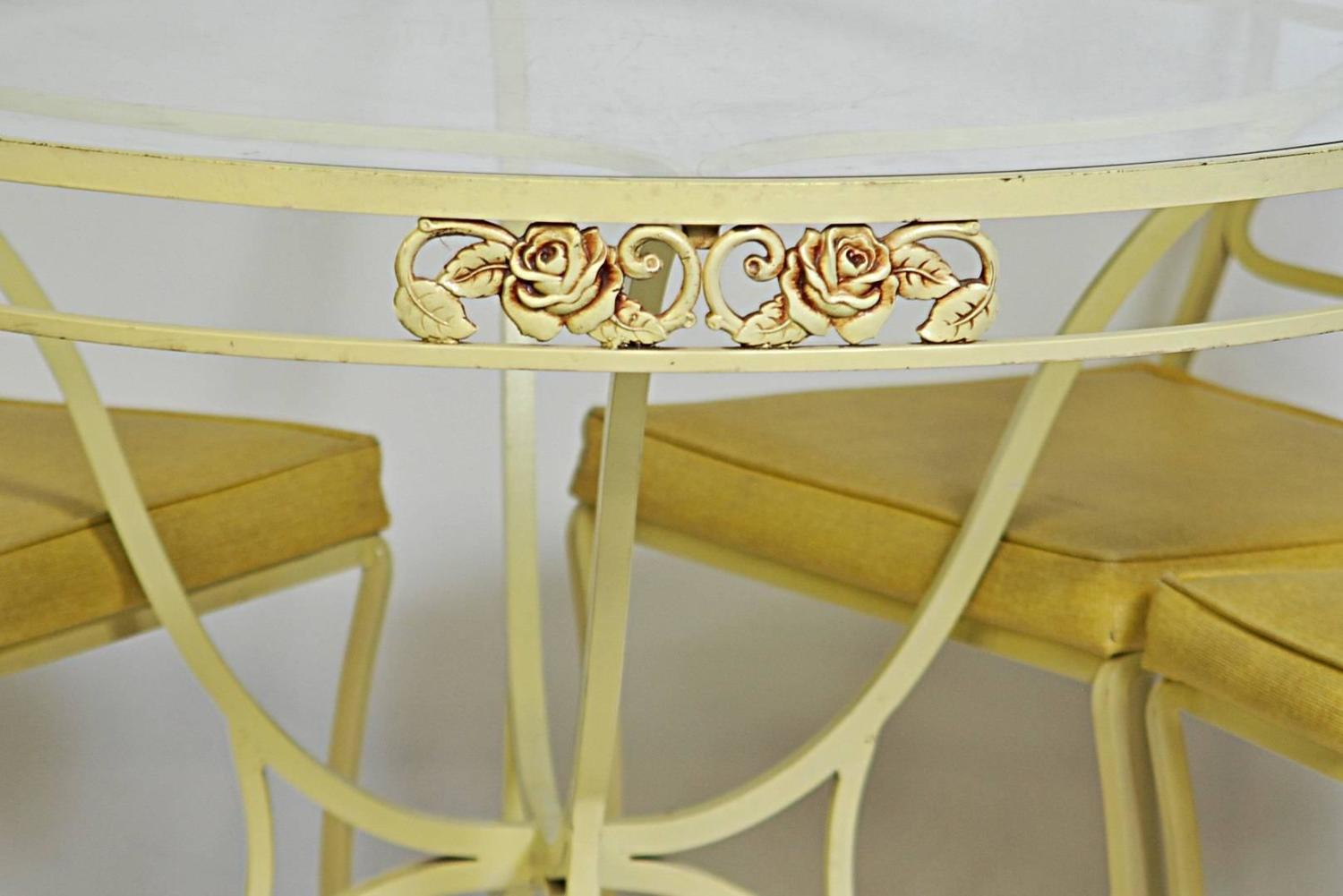 Five Piece Salterini Wrought Iron Dining Set For Sale At 1stdibs