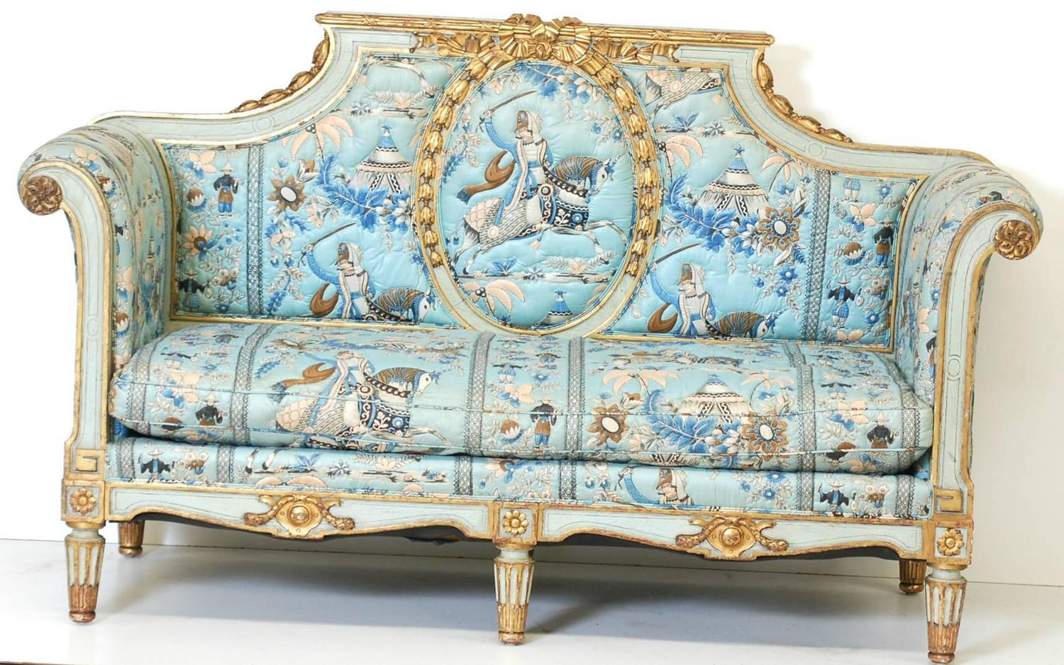 French louis xvi style settee at 1stdibs for Z furniture philadelphia