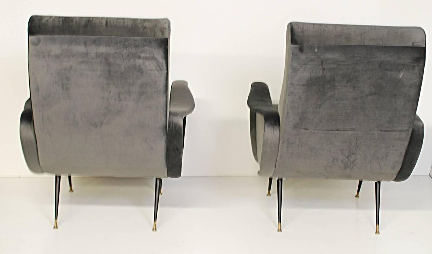 Pair of marco zanuso style lady chairs at 1stdibs for Z furniture philadelphia