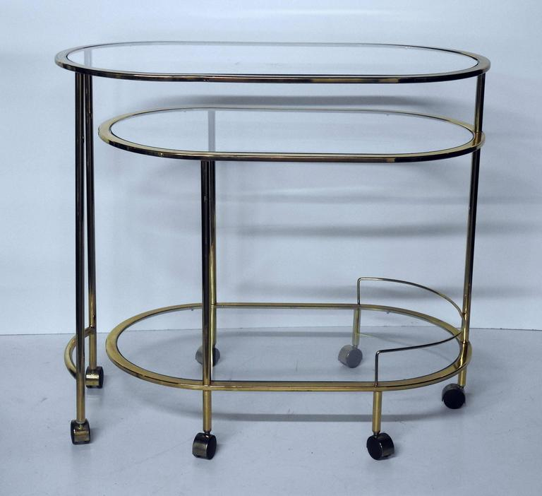 Mid-Century Modern Bar Cart Or Cocktail Table For Sale At