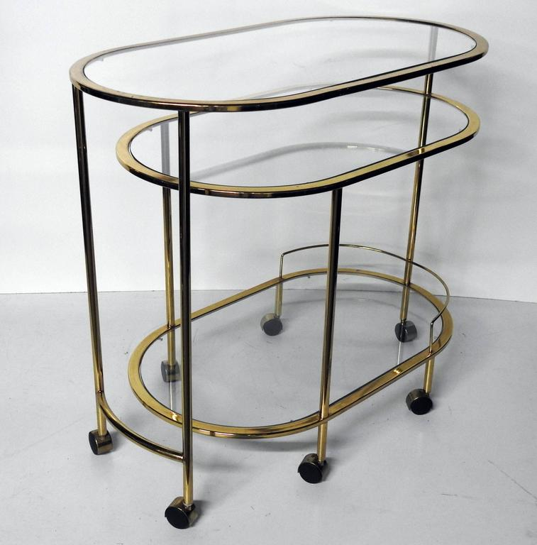 Mid century modern bar cart or cocktail table for sale at for Mid century bistro table