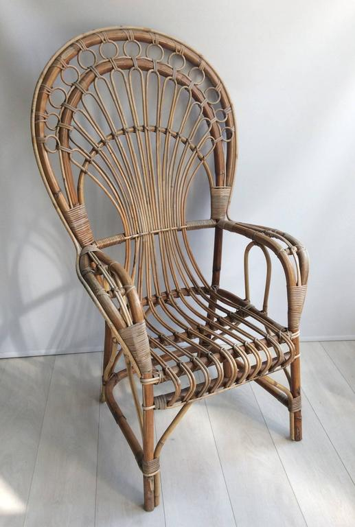 Iconic Rattan Peacock Chair, 1970s 2