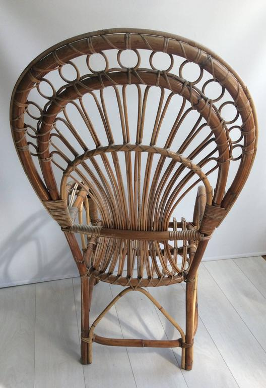 Iconic Rattan Peacock Chair, 1970s 3