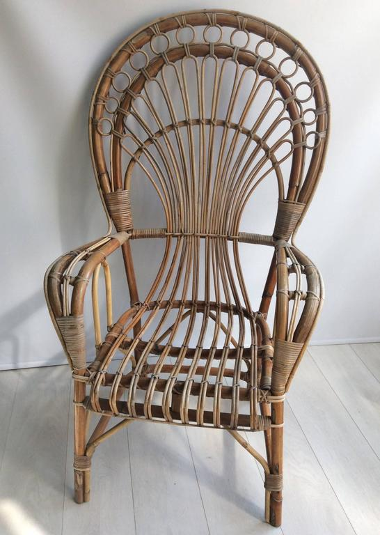 Iconic Rattan Peacock Chair, 1970s 5