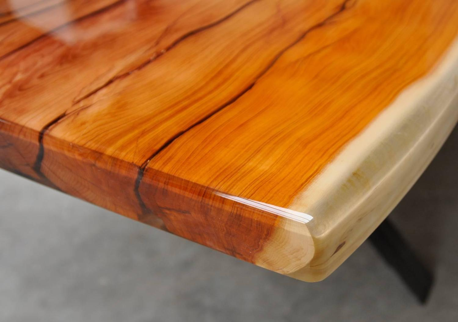 Superb img of Table Made Out of One Single Piece of Wood from a 1500 Year Old Taxus  with #B96112 color and 1500x1056 pixels