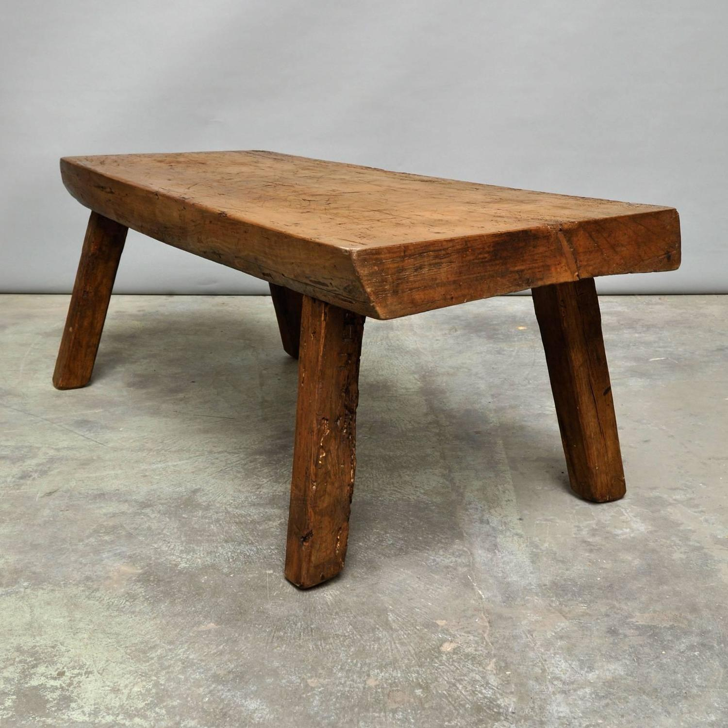 antique butcher block coffee table for sale at 1stdibs